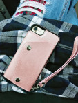 Casebus - Classic Fashion Wallet Phone Case - Credit Card Holder Leather Handbag Purse Wrist Strap Protective Case