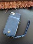 Casebus - Elegant Clasp Wallet Phone Case - Premium Leather, Credit Card Holder, Zipper Pocket, Wrist Strap, Kickstand Shockproof Case - 61#