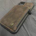 Casebus - Double Magnetic Clasp Wallet Phone Case - Premium Leather, Credit Card Holder, Zipper Pocket, Kickstand Shockproof Case - C20#