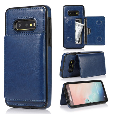 Samsung Galaxy S10e Case Casebus - Classic Magnetic Wallet Phone Case - Credit Card Holder Dual Layer Lightweight Slim Leather Magnetic Protective Case