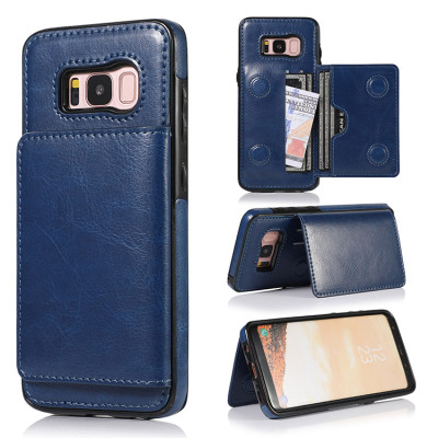 Samsung Galaxy S8 Case Casebus - Classic Magnetic Wallet Phone Case - Credit Card Holder Dual Layer Lightweight Slim Leather Magnetic Protective Case