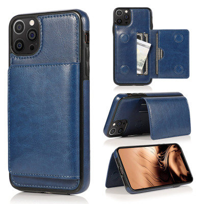 Casebus - Classic Magnetic Wallet Phone Case - Credit Card Holder Dual Layer Lightweight Slim Leather Magnetic Protective Case