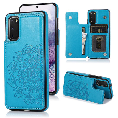 Samsung Galaxy S10e Case Casebus - Classic Mandala Wallet Phone Case - Credit Card Holder Leather Double Magnetic Buttons Shockproof Case