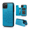 Casebus - Classic Mandala Wallet Phone Case - Credit Card Holder Leather Double Magnetic Buttons Shockproof Case
