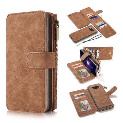 Samsung Galaxy S8 Case Casebus - Classic Detachable Magnetic Wallet Phone Case - Leather Folio Flip Zipper Purse Credit Card Holder Case - 007#