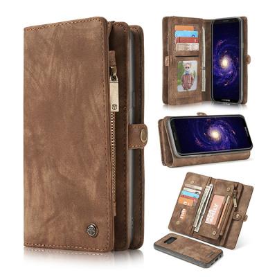 Samsung Galaxy S8 Case Casebus - Classic Detachable Magnetic Wallet Phone Case - 11 Card Slots, 2 in 1, Leather Zipper, Folio Flip, Money Pocket Clutch Case - 008#