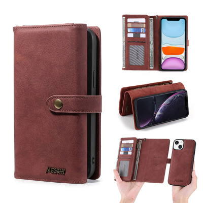 Case Casebus - 2 in 1 Detachable Magnetic Wallet Phone Case - 9 Card Slots, Zipper Pocket, Removable Sleeve, Folio Case - 016#