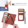 Casebus - 2 in 1 Detachable Magnetic Wallet Phone Case - 9 Card Slots, Zipper Pocket, Removable Sleeve, Folio Case - 016#