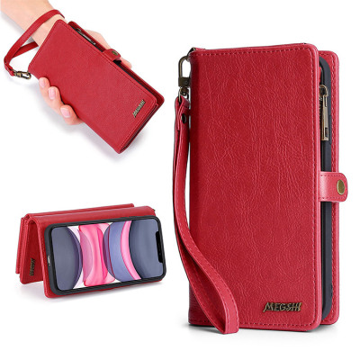 Case Casebus - 2 in 1 Folio Detachable Magnetic Wallet Phone Case - Credit Card Holder with Wrist Strap Case - 01#