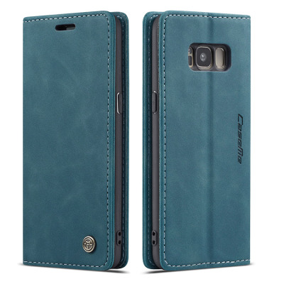 Samsung Galaxy S8 Case Casebus - Slim Folio Wallet Phone Case - Leather Credit Card Holder Kickstand Magnetic Flip Protective Case - 013#