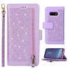 Casebus - Glitter Bling 9 Cards Slots Wallet Phone Case - Leather Flip Zipper Kickstand Protective Case