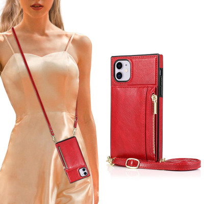 Samsung Galaxy S10e Case Casebus - Classic Square Crossbody Wallet Phone Case - Credit Card Holder, Money Pocket, Leather Kickstand Strap Shockproof Case