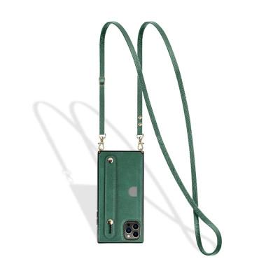 Case Casebus - Hand Strap Holder Crossbody Wallet Phone Case - Credit Card Holder, Adjustable Removable Shoulder Strap, Leather Kickstand Shockproof Case