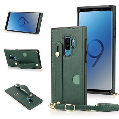 Samsung Galaxy S10e Case Casebus - Hand Strap Holder Crossbody Wallet Phone Case - Credit Card Holder, Adjustable Removable Shoulder Strap, Leather Kickstand Shockproof Case