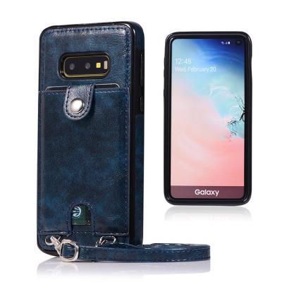 Samsung Galaxy S10e Case Casebus - Slim Crossbody Wallet Phone Case - Detachable Strap Card Holder Clutch Leather Back Case