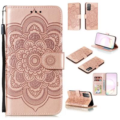 Samsung Galaxy S10e Case Casebus - Mandala Folio Wallet Phone Case - Premium Leather, Credit Card Holder, Flip Kickstand Shockproof Case