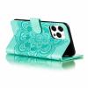 Casebus - Mandala Folio Wallet Phone Case - Premium Leather, Credit Card Holder, Flip Kickstand Shockproof Case
