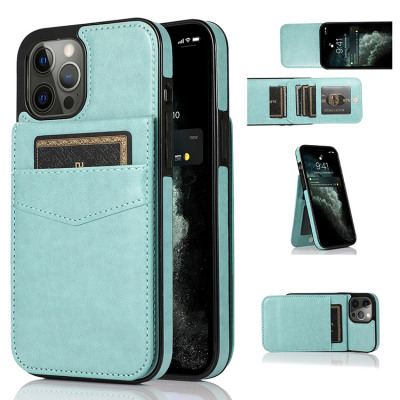 Case Casebus - Classic 5-6 Card Slots Wallet Phone Case - Premium Leather, Credit Card Holder, Flip, Kickstand Shockproof Case