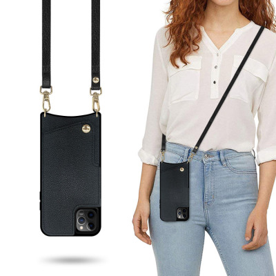 Samsung Galaxy S10e Case Casebus - Classic Luxurious Crossbody Wallet Phone Case (with Leather Strap)
