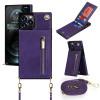Casebus - Crossbody Wallet Phone Case - 5 Card Slots, Premium Leather, Wrist Strap, Kickstand Shockproof Case