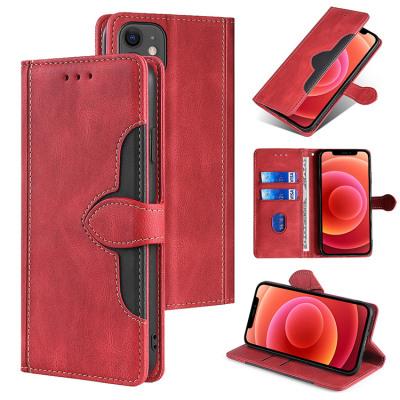 Casebus - Retro Flip Folio Wallet Phone Case - Magnetic Closure Credit Card Holder Shockproof Cover