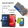 Casebus - Flip Folio Wallet Phone Case - Credit Card Holder Magnetic Stand Leather Durable Shockproof Protective Cover