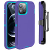 Casebus - Defender Phone Case with Belt Clip Holster - Heavy Duty Rugged Case with Kickstand Shock-Drop-Dust Proof 3-Layers Protective Cover